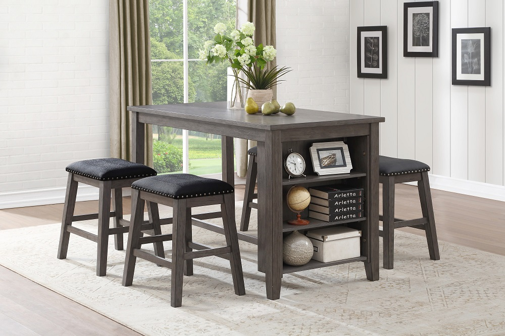 Timbre Counter Table with 4 Stools