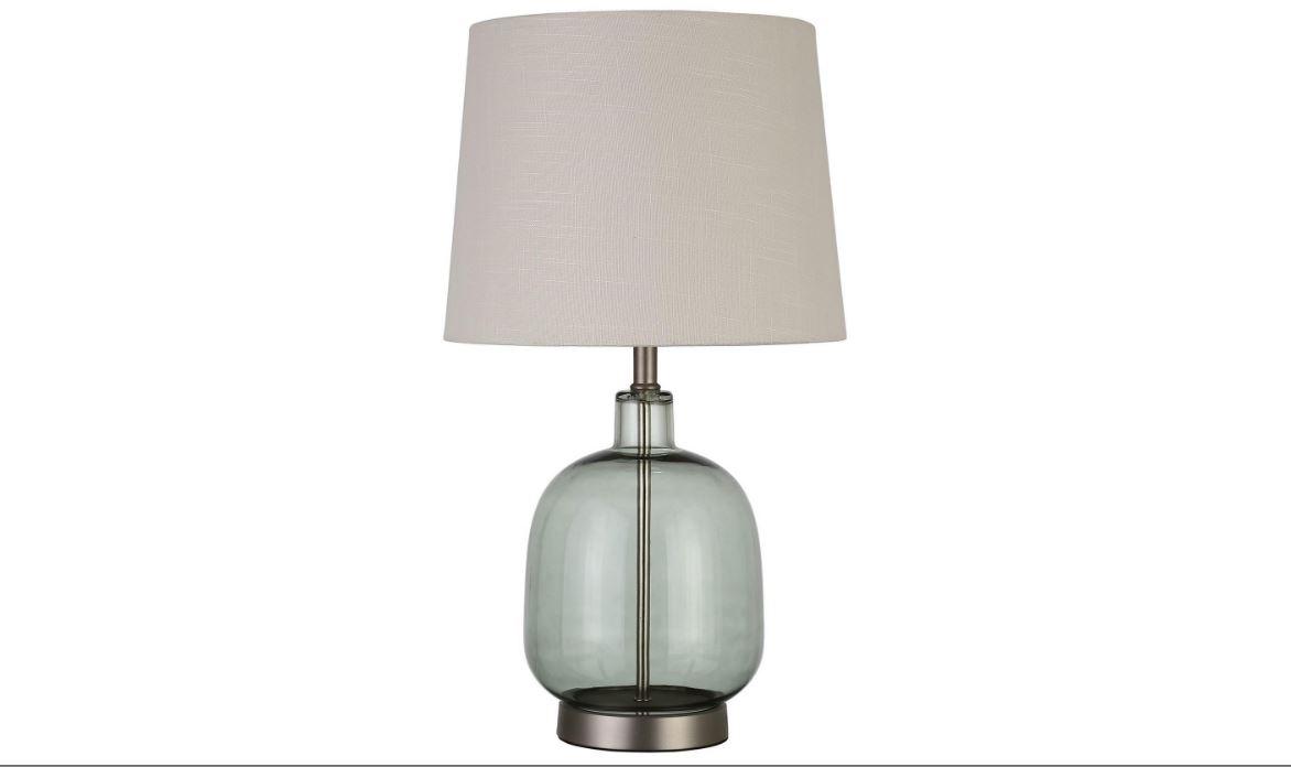 Green Glass Base Table Lamp