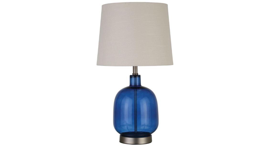 Blue Glass Base Table Lamp