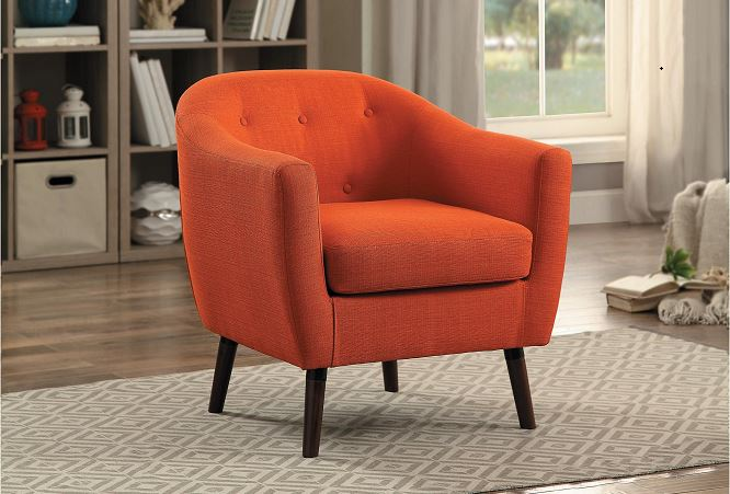 Lucille Accent Chair Orange