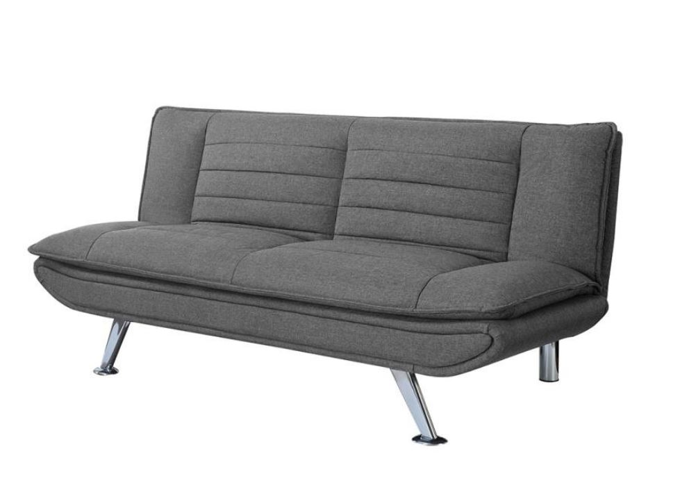 Grey Futon with Chrome Legs