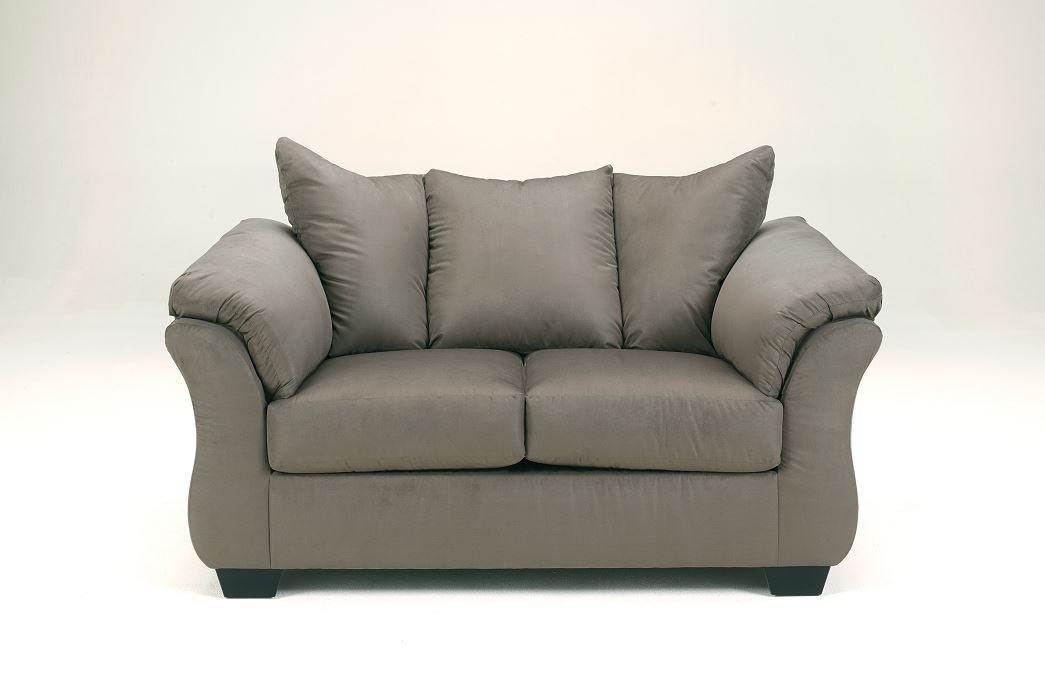 Darcy Love seat in cobblestone