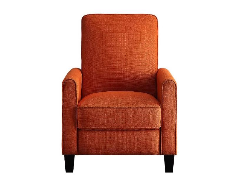 Darcel Push Back Recliner in Orange