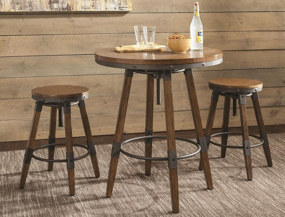 Hornell Rustic Adjustable Table & chair set