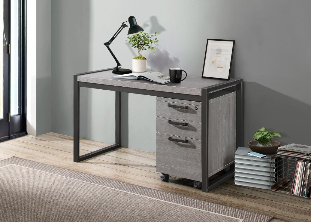 Dogue Desk with File Cabinet