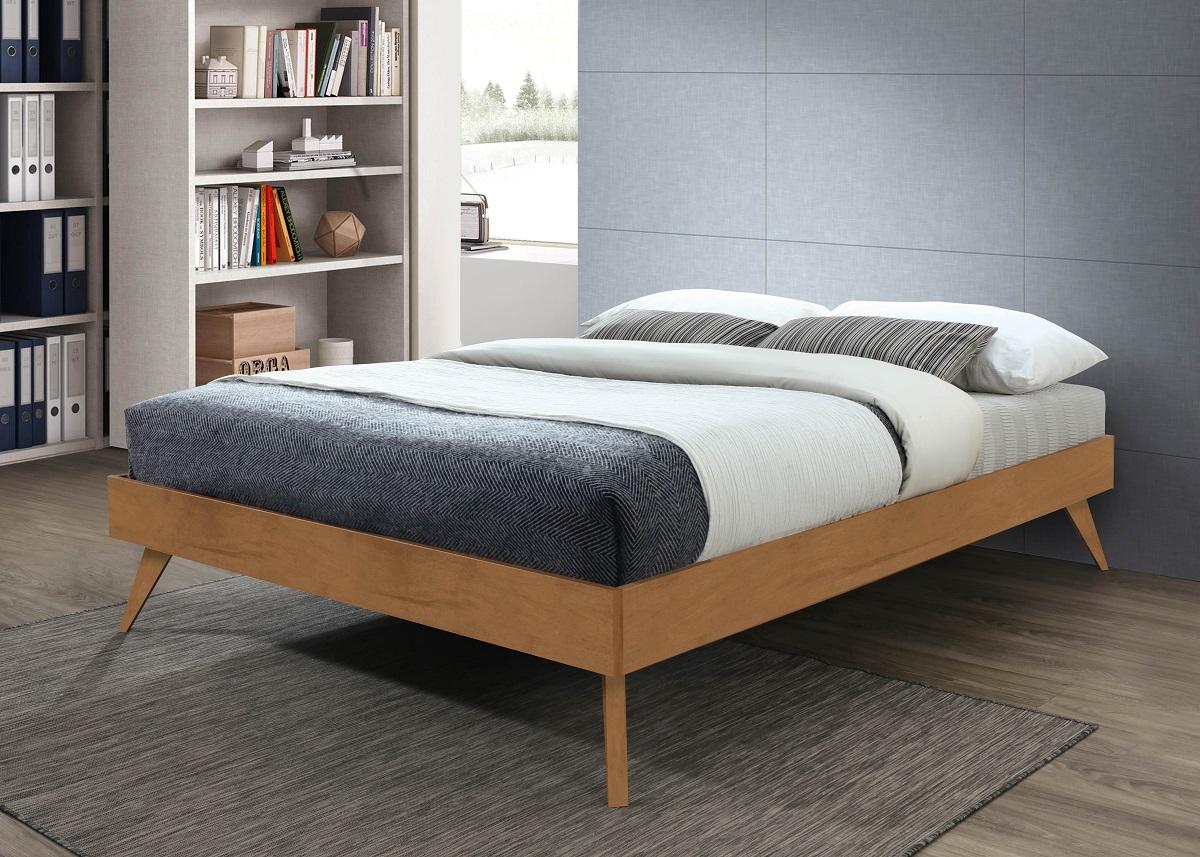 Natural Queen Platform Bed