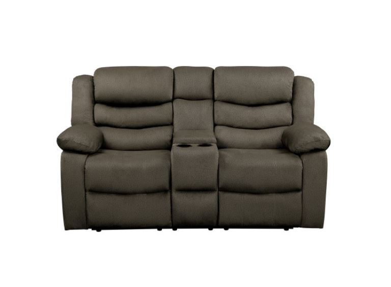 Discus Reclining Love Seat with Center Console