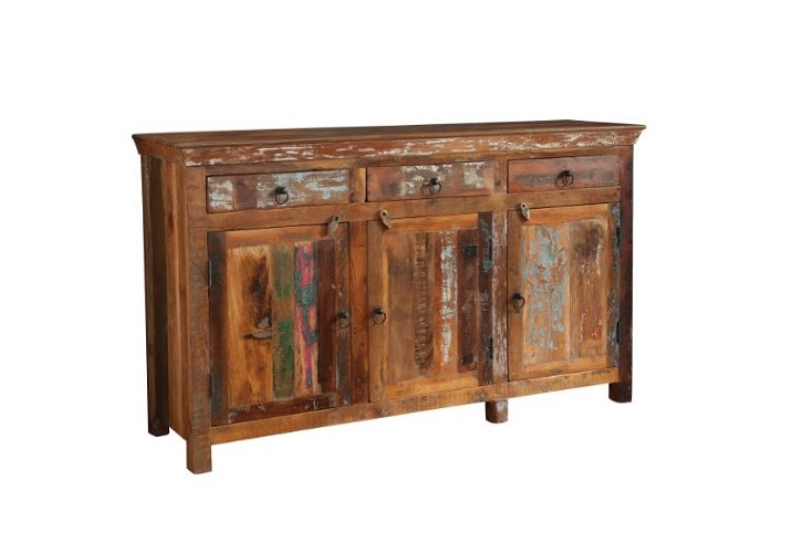 Reclaimed Wood 3-Door Accent Cabinet