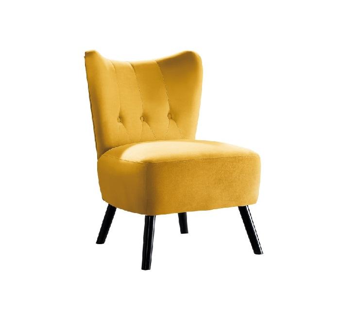 Imani Accent Chair Velvet Yellow