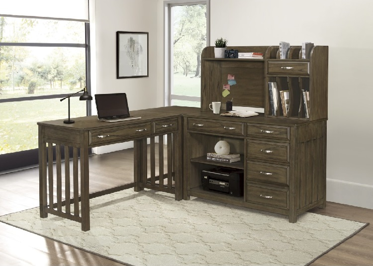 Blance Collection Corner Desk with Hutch
