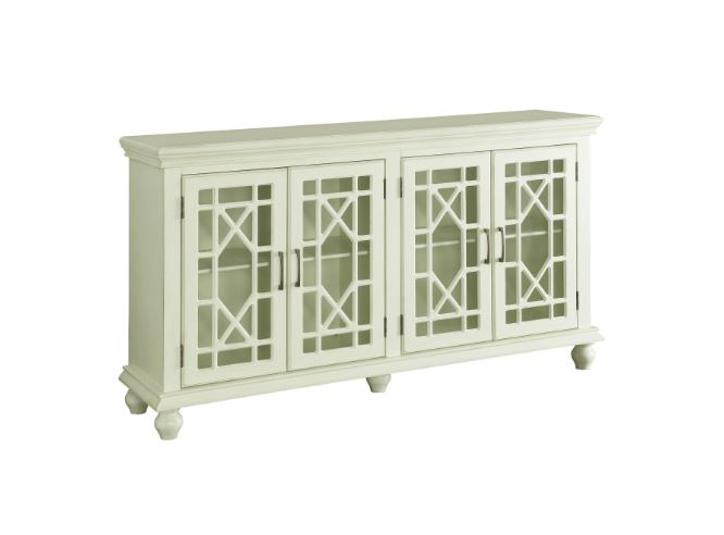 4 Door Accent Cabinet Antique White