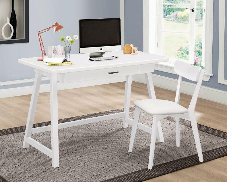 White Writing Desk Set