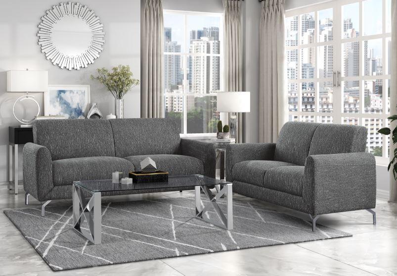 Venture Sofa & Loveseat Gray